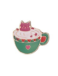Недорогие -Жен. Классический Броши - Rabbit, чашка модный, Милая Брошь Розовый и Зеленый Назначение Свидание / Для улицы