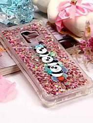 baratos -Capinha Para Samsung Galaxy S9 Plus / S9 Carteira / Porta-Cartão / Com Suporte Capa traseira Panda Macia TPU para S9 / S9 Plus / S8 Plus