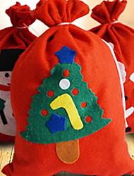 baratos -Sacos de Presentes Férias Tecido Rectângular Novidades Decoração de Natal