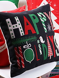 baratos -Cobertura de Almofada Natal Tecido Rectângular Novidades Decoração de Natal