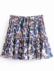 cheap -Women's Basic A Line Skirts - Geometric