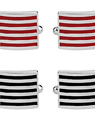 cheap -Cubic Black / Red / Blue Cufflinks Alloy Formal / Fashion Men's Costume Jewelry For Party / Ceremony