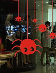 abordables -Film de fenêtre et autocollants Décoration Halloween Vacances PVC Autocollant de Fenêtre
