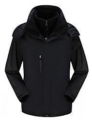 Недорогие -Муж. Куртки 3-в-1 на открытом воздухе Осень Зима С защитой от ветра Износостойкость Жакет Зимняя куртка Верхняя часть Водостойкий Односторонняя Отдых и Туризм Катание на лыжах Путешествия