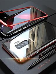 Недорогие -Кейс для Назначение SSamsung Galaxy S9 Plus / S9 Магнитный Чехол Однотонный Твердый Закаленное стекло для S9 / S9 Plus / S8 Plus