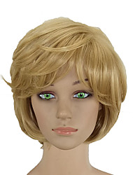 Недорогие -Парики из искусственных волос Кудрявый Стиль Стрижка каскад Без шапочки-основы Парик Блондинка Блондинка Искусственные волосы 10 дюймовый Жен. Жаропрочная Женский синтетический Блондинка Парик