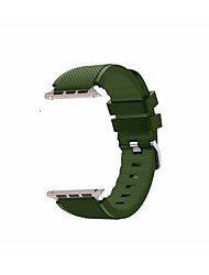 abordables -Le gel de silice Bracelet de Montre  Sangle pour Apple Watch Series 3 / 2 / 1 Noir / Blanc / Bleu 23cm / 9 pouces 2.1cm / 0.83 Pouces