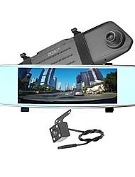 abordables -ziqiao x700 full hd 1080p 7 pouces ips vision nocturne voiture dvr miroir caméra enregistreur vidéo double objectif registrar vue arrière dvrs dash cam