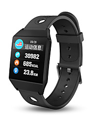 abordables -Bracelet à puce W1 pour iOS / Android Imperméable / Ecran Tactile / Information / Contrôle de l'Appareil Photo Podomètre / Rappel d'Appel / Rappel sédentaire