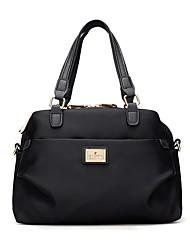 お買い得  -女性用 バッグ ナイロン トート ジッパー 純色 ブルー / ブラック / パープル