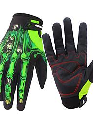 Недорогие -Спортивные перчатки Спортивные перчатки / Перчатки для велосипедистов / Перчатки для сенсорного экрана С защитой от ветра / Водонепроницаемость / Нескользящий Полный палец Кожа PU