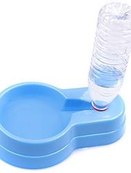 Недорогие -1 L Собаки Миски и бутылки с водой / Кормушки / Хранение продуктов питания Животные Чаши и откорма Регулируется / Водонепроницаемость / Компактность Цвет отправляется в случайном порядке