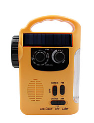 abordables -RD339 Radio portable Lecteur MP3 / Energie Solaire / Torche World Receiver Jaune