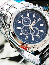 Недорогие -Муж. Для пары Спортивные часы Наручные часы Кварцевый Серебристый металл / Золотистый 30 m Повседневные часы Крупный циферблат Аналоговый На каждый день Мода -
