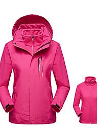 Недорогие -Жен. толстовка с капюшоном куртки Куртки 3-в-1 Куртка для туризма и прогулок на открытом воздухе Осень Весна С защитой от ветра Дышащий Дожденепроницаемый Износостойкость Куртки 3-в-1 Верхняя часть