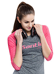 cheap -SANTIC Women's Cycling Jersey Bike Tee / T-shirt / Jersey / Top Ultraviolet Resistant, Breathable, UV Resistant Retro, Patchwork, Classic Pink Bike Wear / High Elasticity / Sweat-wicking