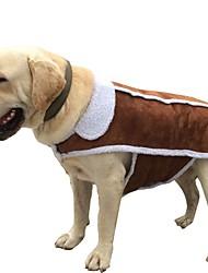 Недорогие -Собаки / Коты Плащи / Жакет Одежда для собак Однотонный Коричневый Хлопок Костюм Для домашних животных Универсальные На каждый день / Наколенники