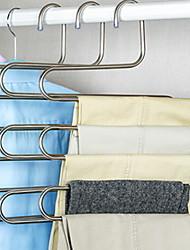 Недорогие -Нержавеющая сталь Многофункциональный Одежда Вешалка, 2pcs