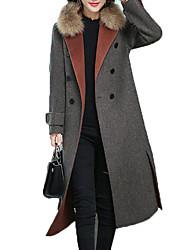 billige -Dame Ensfarvet Basale Frakke