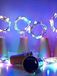 Недорогие -hkv® solar 10led бутылка вина пробка формы вел звездные огни строки ночь фея огни лампа для сада свадьба и рождественская вечеринка