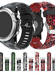Недорогие -Ремешок для часов для Fenix 3 Garmin Спортивный ремешок / Инструменты сделай-сам силиконовый Повязка на запястье