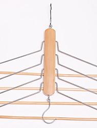 abordables -En bois Multifonction Vêtement Cintre, 1pc