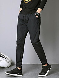 Недорогие -женские тонкие брюки из шиньонов - сплошной цвет