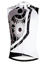 Недорогие -ILPALADINO Муж. Без рукавов Велокофты - Белый Шестерня Велоспорт Жилетка Джерси Безрукавка Быстровысыхающий Виды спорта Экологичность Полиэстер 100% полиэстер Горные велосипеды Шоссейные велосипеды