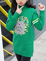 cheap -Kids Girls' Print Long Sleeve Sweater & Cardigan