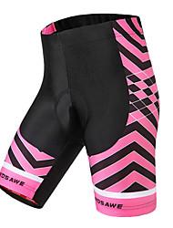 abordables -WOSAWE Femme Cuissard Rembourré de Cyclisme Vélo Cuissard  / Short / Bas Etanche, Respirable, Anti-transpiration Classique Polyester,