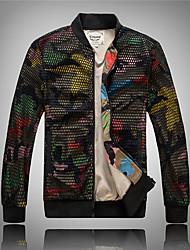 Недорогие -Муж. Куртка Секси - Однотонный