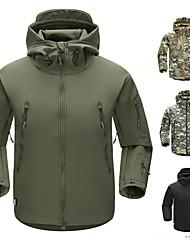 Недорогие -Муж. Куртка софтшелл для туризма и прогулок Куртка для туризма и прогулок на открытом воздухе Осень Зима С защитой от ветра Дожденепроницаемый Воздухопроницаемость Пригодно для носки 100