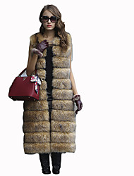baratos -Mulheres Casaco de Pêlo Sólido, Pêlo Sintético