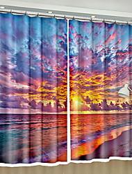 Недорогие -Modern 3D-шторы 2 шторы Занавес / Солнцезащитные / Спальня