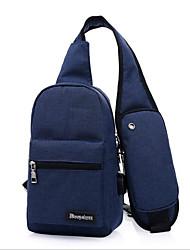 baratos -Homens Bolsas Poliéster Sling sacos de ombro Ziper Azul Escuro / Roxo / Cinzento Claro