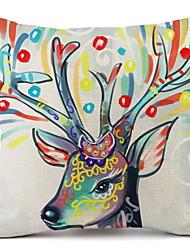 Недорогие -Наволочки Новогодняя тематика / Семья Полиэстер Прямоугольный Оригинальные Рождественские украшения