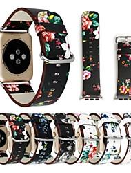 baratos -Pulseiras de Relógio para Apple Watch Series 4/3/2/1 Apple Pulseira de Couro Couro Legitimo Tira de Pulso