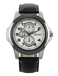 Недорогие -Муж. Для пары Спортивные часы Наручные часы Кварцевый Повседневные часы Кожа Группа Аналоговый На каждый день Мода Черный / Коричневый - Черный / коричневый Черный / Белый Белый / Бежевый
