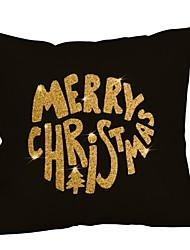 abordables -Taie d'oreiller Noël / Vacances Polyester Rectangulaire Soirée / Nouveautés Décoration de Noël