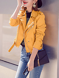 Недорогие -женская кожаная куртка pu - современная