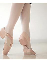 Недорогие -Жен. Обувь для балета Полиуретан На каблуках / Кроссовки Толстая каблук Танцевальная обувь Черный / Розовый