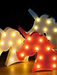 Недорогие -brelong 3d kids room украшение ночной свет рождественская свадьба декоративная - голова единорога