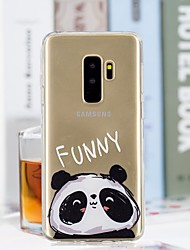 baratos -Capinha Para Samsung Galaxy S9 Plus / S9 Transparente / Estampada Capa traseira Panda Macia TPU para S9 / S9 Plus / S8 Plus