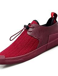Недорогие -Муж. Комфортная обувь Полиуретан Осень Кеды Серый / Винный / Черно-белый