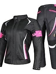 Недорогие -верховая езда женщины мотоцикл куртка& брюки костюм куртка дышащая сетка туристический мотоцикл одежда набор защитный механизм
