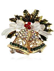 Недорогие -Жен. Классический Броши - Расклешенные Классика Брошь Золотой Назначение Рождество