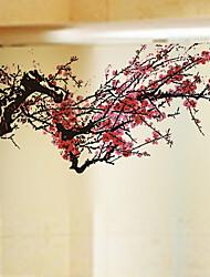 Недорогие -Оконная пленка и наклейки Украшение Классика / Шинуазери (китайский стиль) Цветы ПВХ Стикер на окна