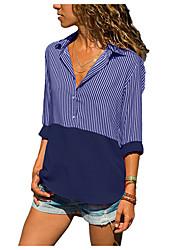 economico -Camicia Per donna A strisce Verde XXXL