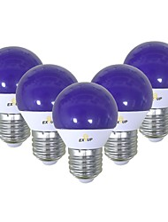 abordables -EXUP® 5pcs 5 W 450 lm E26 / E27 Ampoules Globe LED G45 12 Perles LED SMD 2835 Mignon / Créatif / Soirée Bleu 220-240 V / 110-130 V