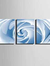 billiga -Tryck Valsade kanfastryck / Stretchad Kanvastryck - fantasi / Blommig / Botanisk Moderna